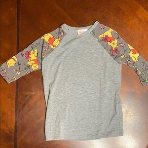 LuLaRoe Disney's Winnie the Pooh girls shirt